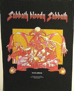Black Sabbath Bloody Sabbath  large sew-on Backpatch (ro)